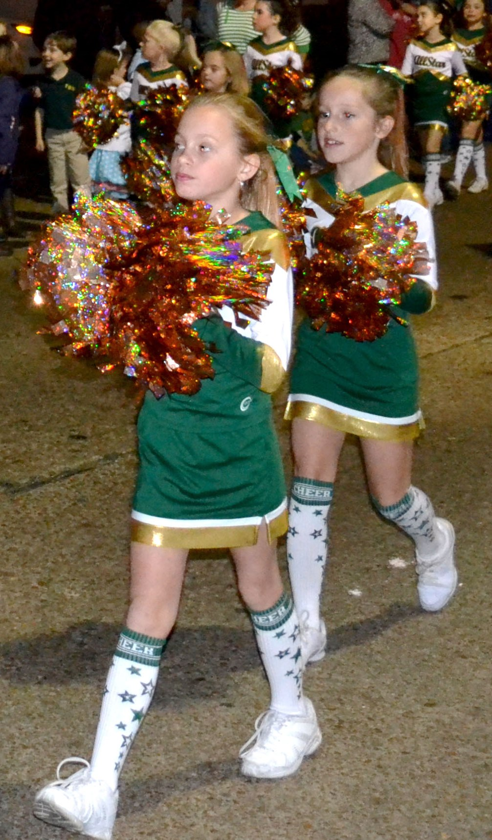 Delta All-State Recreational Cheer squad performed during events like the Cleveland Christmas Parade this past year.