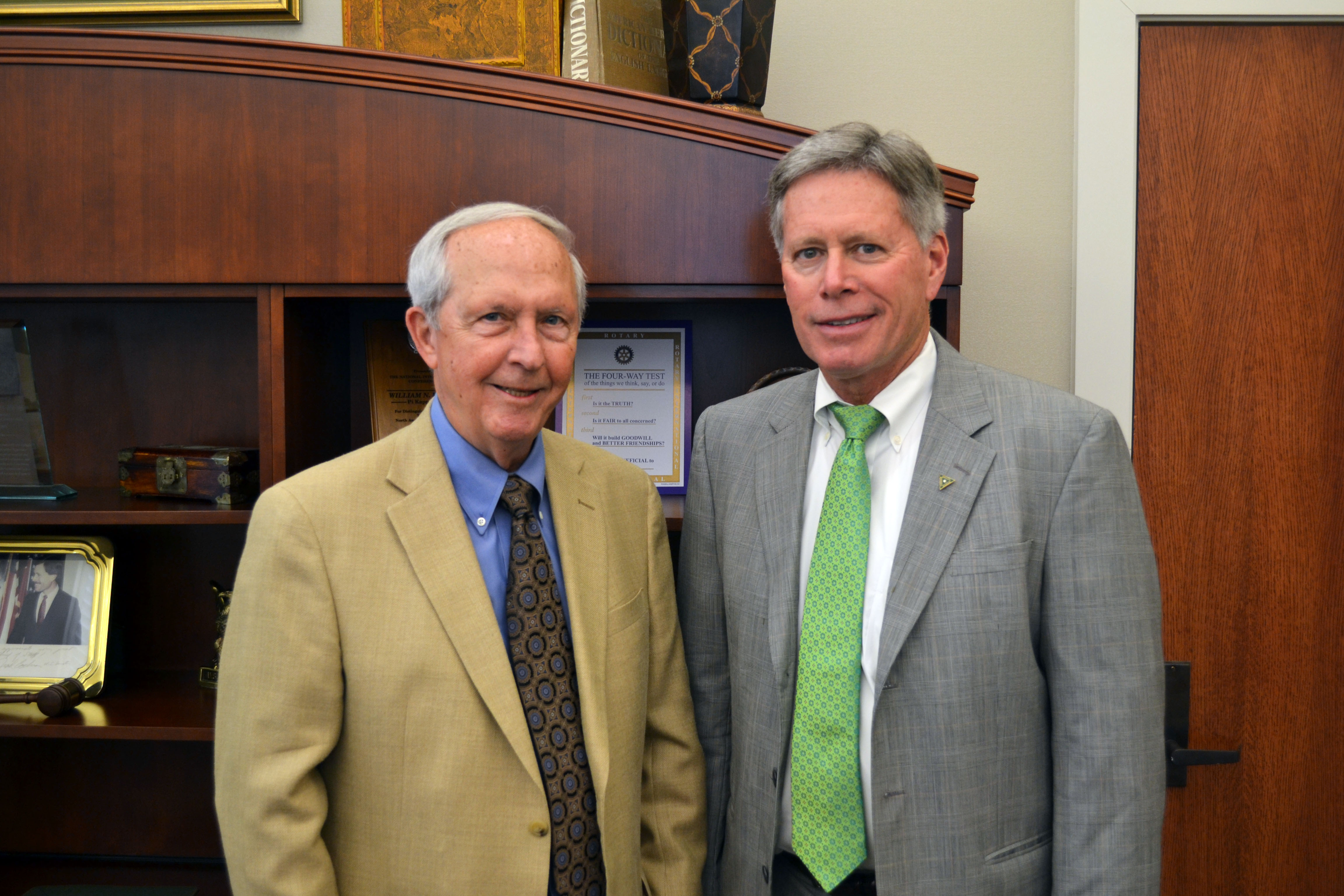 Photo: President Emeritus Dr. Kent Wyatt, Inauguration Chair, and William N. LaForge, Delta State President.