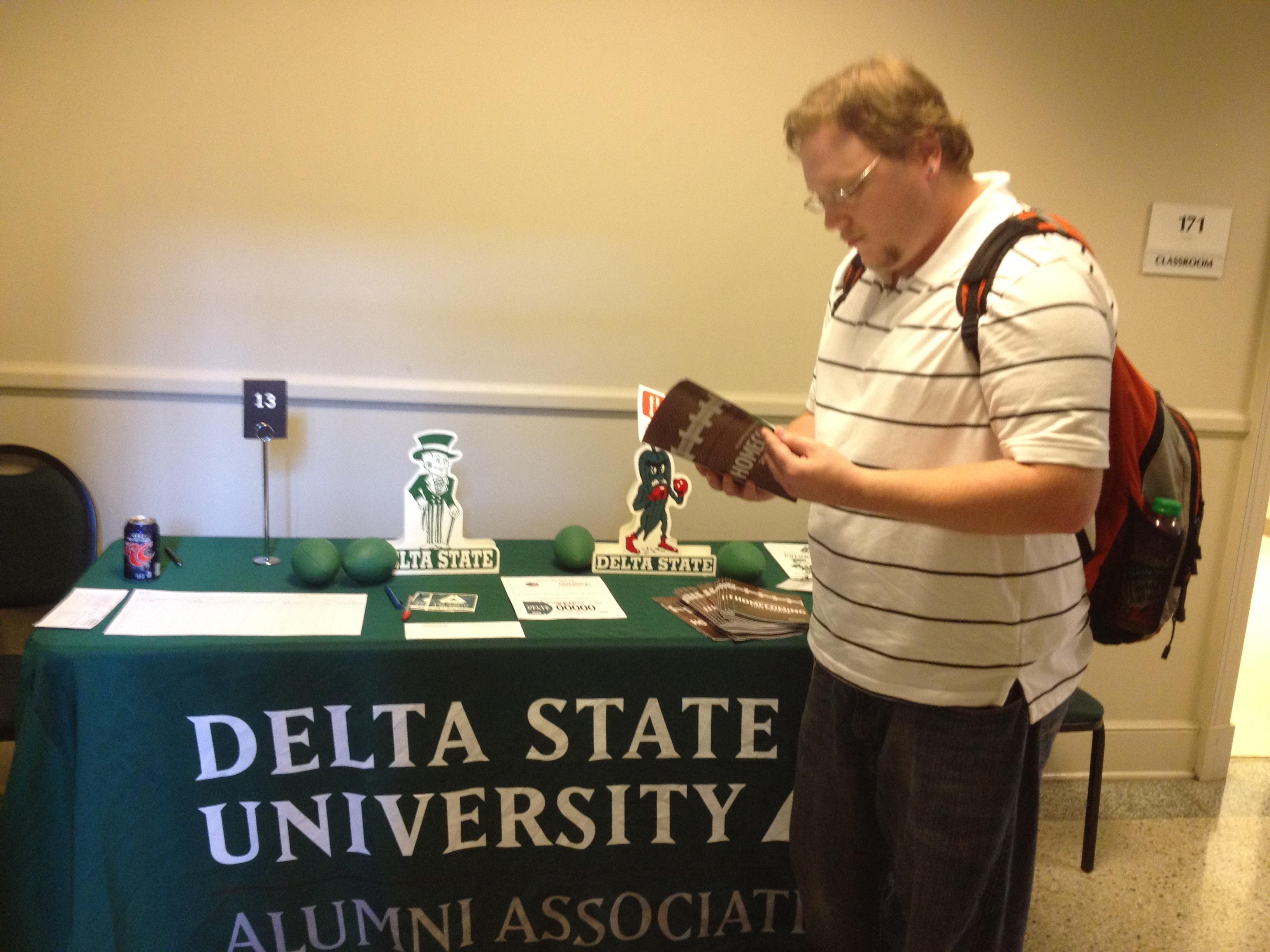 delta state alumni association participates in career fair