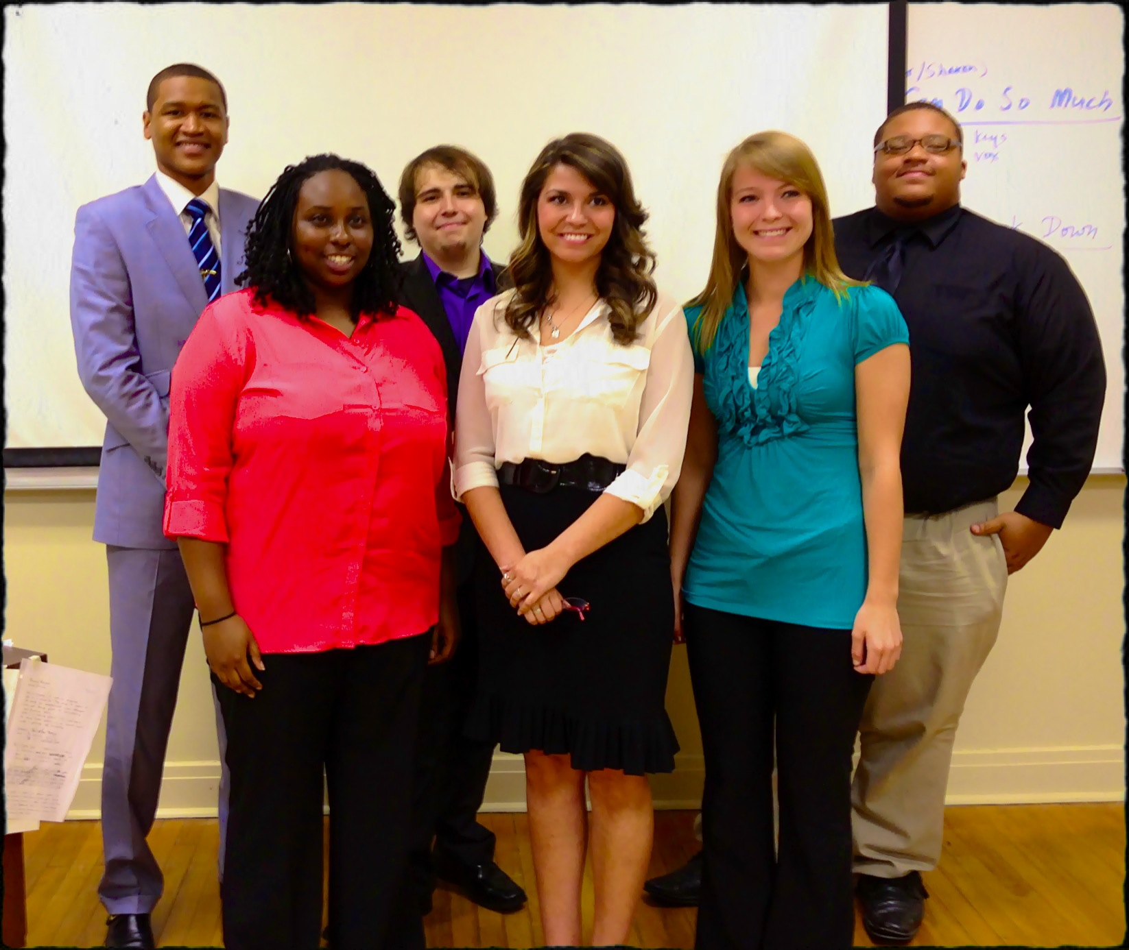 The three teams of Laeitta Wade of Greenville and Lindsey Zweber of Olive Branch; Hyacine Do REGO of Libreville, Gabon, Africa and Alyssa Shetley of Salem, Illinois;  and Matthew Coleman of Jackson and Jeremy Carodine of Cleveland.