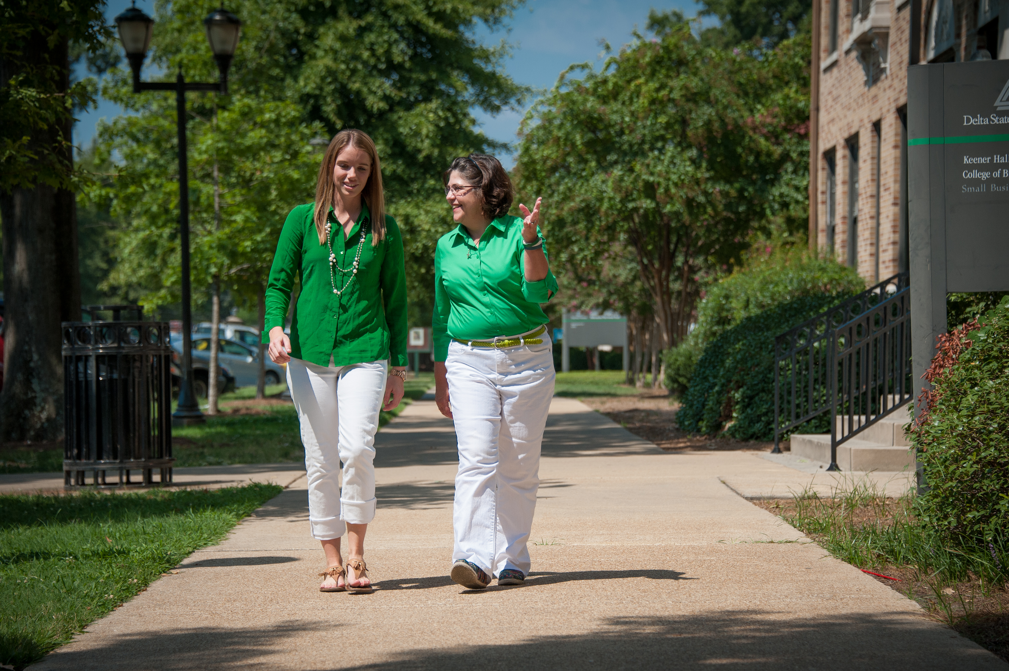 Senior Student Government Association President Sydney Hodnett and Anne Weissinger '81, president of the Delta State University Foundation Board, are both from Rolling Fork and play leading roles at Delta State.