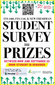 Student survey poster