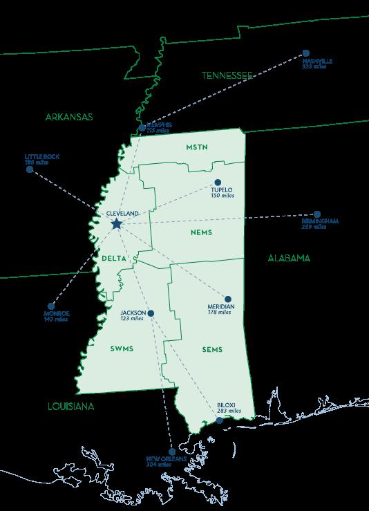 Mississippi Region Map