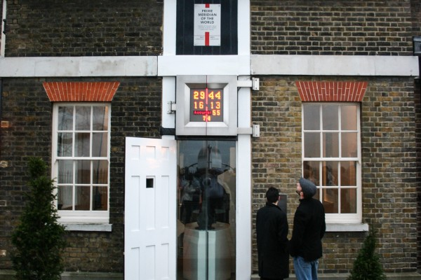 Standing on the Prime Meridian in Greenwich