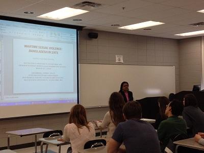 Dr. Fatema Jannat speaking.