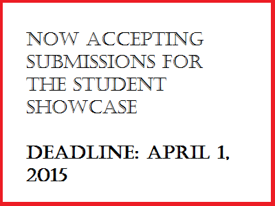 Student Showcase applications due April first