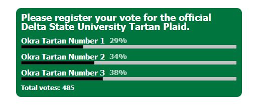 DSU Tartan Plaid Final Vote