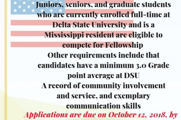 Congressional Fellowship (Internship Opportunity)
