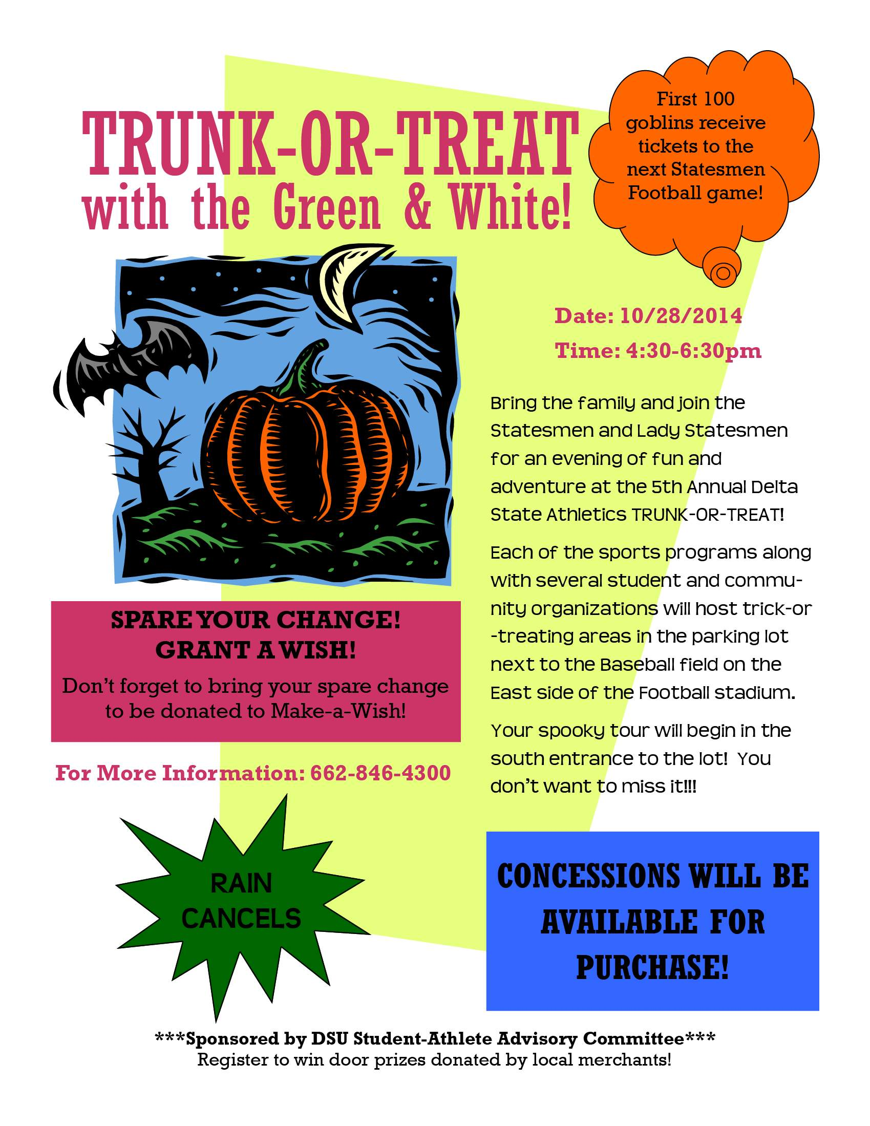 Athletics Trunk Or Treat News And Events