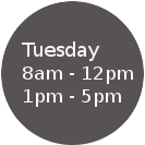 Tuesday Hours