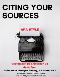 APA Citation Workshop