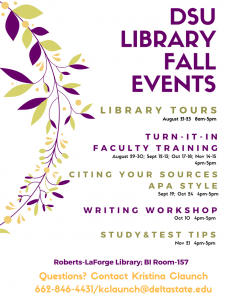 Fall 2017 Library Events