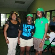 (L to R) Sheketra Bell, Shalisa Jackson, and Chay Robinson were three of the winners in the prize drawing.