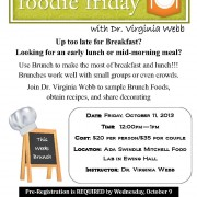 Foodie Friday Oct 2013