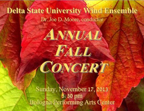fall poster for wind ensemble concert
