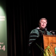 William N. LaForge inaugurated as Delta State's eighth president.