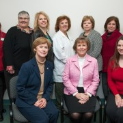 Karen Wakeford (technical assistant, Georgia Health Policy Center) and the DELTA Grant Leadership team met early December. Front (l to r): Karen Wakeford, Shelby Polk (project director), Jan Wilson. Back: Betty Sylvest, Emily Newman, Teresa Haynes, Cindy Belenchia, Jean Grantham, Laura Wood and Vicki Bingham