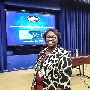 Cora Jackson, instructor of social work at Delta State, visited the White House in late 2013 for social work training.