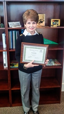 Patsy Burchfield, assistant Provost/Vice President of Academic Affairs, was named the Employee of the Month for Dec. of 2013.