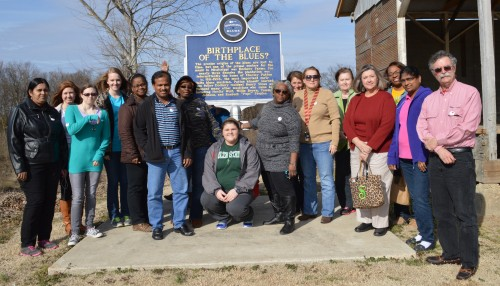 Participants in the Resource Rich workshop at Dockery Farms, the Birthplace of the Blues.