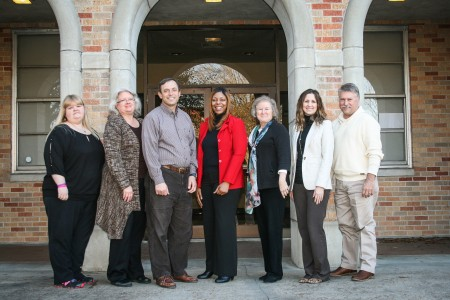 Participants in the Blended Teacher's Academy training included (l to r): Kelly Kirkland, Sally Zengaro, Franco Zengaro, Nicole House, Virginia Webb, Merideth Van Namen and Terry Harbin.