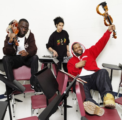 Black Violin, a dynamic group that merges classical and hip-hop elements, will perform March 4 at the Bologna Performing Arts Center.
