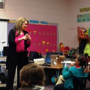 "Sherice Ortman presents ""Moving through Math"" to West Bolivar Elementary kindergarten students."