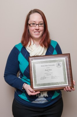 Rachel Becker, secretary for the Division of Teacher Education, Leadership and Research, was named Employee of the Month for February.