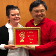 Delta State University Archivist Emily Jones recently received a plaque of appreciation from Raymond Wong, president of the Mississippi Delta Chinese Heritage Museum.