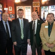 Floyd Eppionette '57, Coach Todd Cooley, Fred Foster '55 and Newt Willis '74.