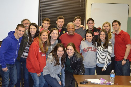 Students from the University of Maryland listened to Charles McLaurin discuss his experiences during Freedom Summer in 1964.