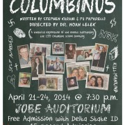 The Delta Players will present Columbinus on April 21-24 in Jobe Auditorium.