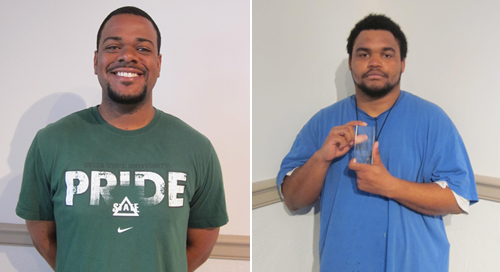 Taylor (left) and Hayes (right) represent Delta State with top awards.