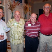 National Alumni Association President Richard Myers '91, Barry Lyons '84, General Al Hopkins '63 and Tommy Mckiernon '68 at the 2012 Gulf Coast meeting.