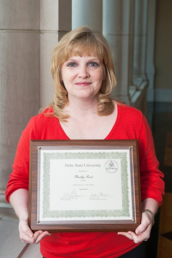 Marilyn Read, coordinator of Continuing Education, is Delta State's March 2014 Employee of the Month.