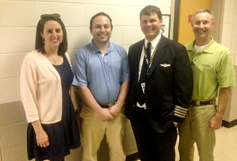 "Julie Speakes, John Auditore, Matthew Torgerson and Travis ""Chip"" Cooper took part in a recent presentation on Republic Airways to the Delta State University Department of Commercial Aviation."