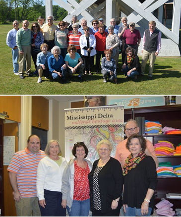 The group from Minnesota (top) and the group from New York (bottom).