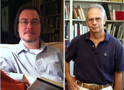 Tomek and Tibbs prepare for Theology course offered this fall through Continuing Education.