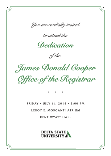 James Cooper  Dedication