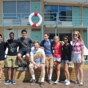 From left to right, the scholars (with their University and home Country or State) are: Tierney Maray (Duke, Australia), Andrew Tan-Delli Cicchi (Duke, New Zealand), Oluwasanmi (Sanmi) Oyenuga (Duke, Nigeria), Sebastian Baquerizo (Duke, Ecuador), Jacob Oliffe (UNC, Australia), Griffin Unger (UNC, US - Pennsylvania), Virginia Hamilton (UNC, US - Georgia), Jaclyn Lee (UNC, US - California), Charlotte McKay (UNC, New Zealand)
