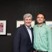 Delta State news writer/photographer Rory Doyle (right) was paid a visit by Mississippi Governor Phil Bryant June 12 at the Mississippi Rising: Emerging Artists gallery in New York City.