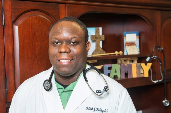 Dr. Degail Hadley '00 returned home to open his practice in the Cleveland Medical Clinic.