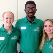 Andrew Van Velsor (left), Mohamed Diaby and Meghan Johnson were recently selected for the Mississippi Rural Physicians Scholarship Program.