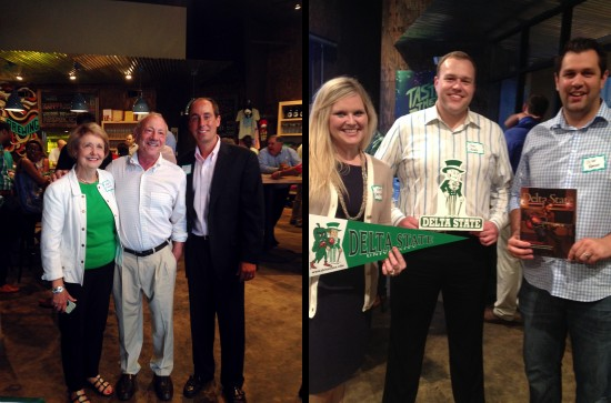 Alumni Vicki Fioranelli (l to r), Mike Palazola, Jeffrey Farris, Kate Kinnison Van Namen, Joel Mosby and Oliver Mansour recently enjoyed the annual Memphis Area Alumni Chapter event.