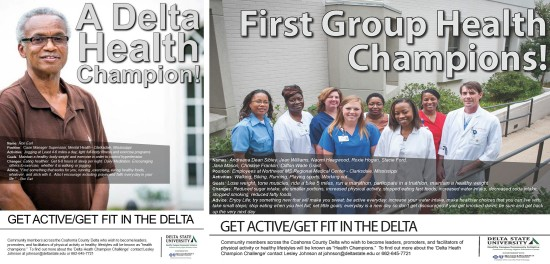 The Healthy Campus/Community Initative at Coahoma County Higher Education Center, a Delta State satellite campus, recently announced its first Health Champions.