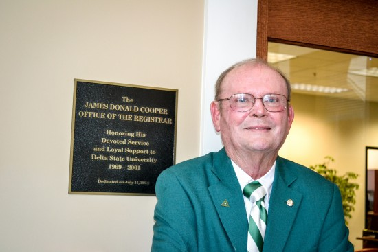 A special ceremony Friday honored the dedication of the James Donald Cooper Office of the Registrar.
