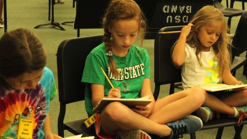 Campers compose their own fables to perform for the class.