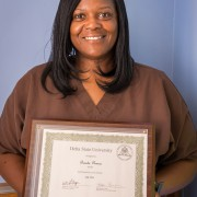 Brenda Dumas, teacher at the Hamilton-White Child Development Center, is Delta State's July 2014 Employee of the Month.