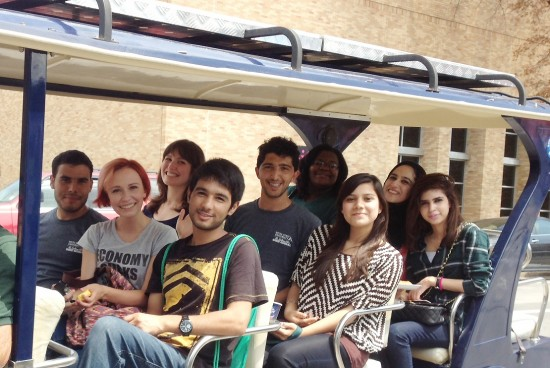 Eight U.S. Department of State's Global Undergraduate Exchange Program students were welcomed to campus this semester.