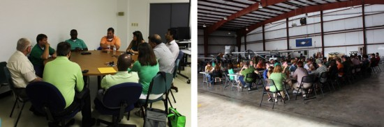 Delta State University's Department of Commercial Aviation recently held its biannual Aviation Advisory Committee Meeting, along with the Welcome Back Cookout hosted by the aviation professional fraternity Alpha Eta Rho.
